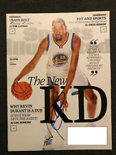KEVIN DURANT Autographed Autograph Signed SPORTS ILLUSTRATED 7-18-2016 WARRIORS