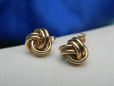 All Shiny Triple Wire Love Knot Stud Earrings Earrings Real 10K Yellow Gold