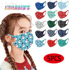 5x Christmas Outdoor Protective Mouth Face Cover Washable Reusable Mask For Kids