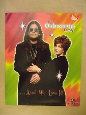 The Osbournes Ozzy & Sharon Osbourne Family Folder Punched for 3 Ring Binder