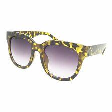 Oversized Large Fashion Ladies Sunglasses Thick Square Frame Vtg Women's Tortoiseshell Dark Lens