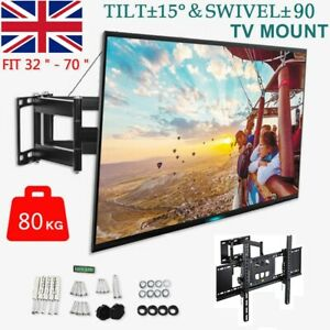 "32-70"" TV Wall Bracket Mount Tilt Swivel Samsung LG Toshiba 40 43 50 55 65 inch"