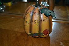 "Ceramic ""thanksgiving"" centerpiece pumpkin 8"" - Fb2."