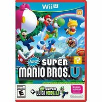 New Super Mario Bros U New Super Luigi U Wii U With Case Very Good 9Z