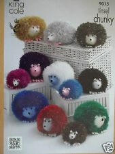 HEDGEHOG  TOY KNITTING PATTERN 3 SIZES USING TINSEL CHUNKY YARN KING COLE 9015