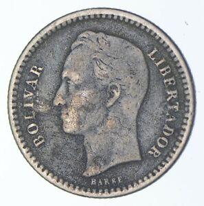 SILVER Roughly Size of Dime 1935 Venezuela 1/2 Bolivar World Silver Coin *767