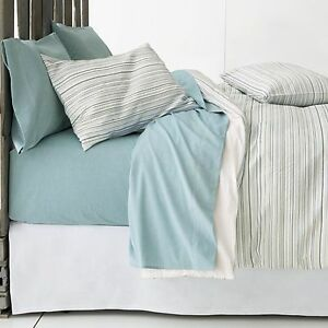 Crate & and Barrel SEASIDE KING Shams x 2! NWOT-BLUE/GREEN/YELLOW