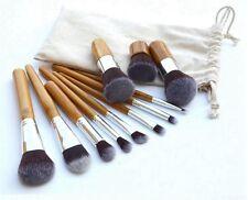 11pcs Pro Pinceaux Brosse Brush Cosmétiques Trousse à Maquillage Make Up Cadeau