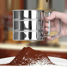 New Sieve Cup Powder Flour Sieve Mesh Knife Baking Tools Pastry Tools For Cake