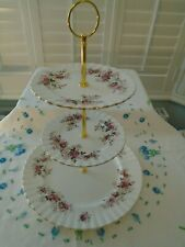 VINTAGE ROYAL ALBERT LAVENDER ROSE TIERED  CAKESTAND PERFECT FOR A TEAPOT