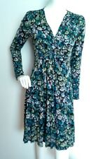JIGSAW casual floral print jersey dress size L knee length long sleeve