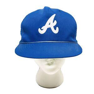 Vintage Atlanta Braves Blue Mesh Embroidered Baseball Hat Official MLB