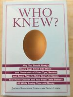WHO KNEW? by Jeanne Bossolina Lubin & Bruce Lubin (2006 Hardcover)
