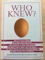 WHO KNEW? by Jeanne Bossolina Lubin & Bruce Lubin (2006 Hardcover)