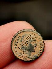 Constance II , nummus , Antioche 340 ( GLOR-IA EXERC-ITVS //SMAN) 1,79 g