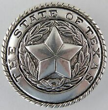 "1-1/4"" The State of Texas Conchos - 100/Pk - Double Rivet Back - Silverplate"