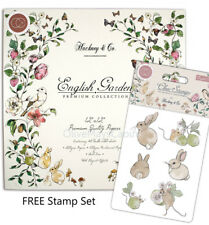 English Garden 12 x 12 Paper Pad with FREE Stamp Set