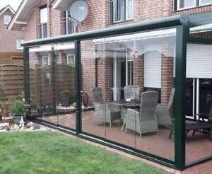 Glasschiebewand Glasschiebetür 151 bis 250 cm Höhe einbaufertig Terrassendach
