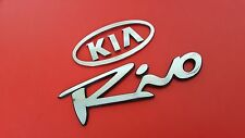 USED 2004 Kia Rio Rear Chrome OEM Emblem Set Logo Sign Badge Trunk (03 04 05)