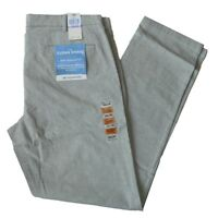 Dockers Men's Clean Khaki Pants Slim Tapered Fit Grey Chambray Size 38W x 34L