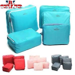5 Pieces Organiser Set Luggage Suitcase Storage Bags Packing Travel Cubes UK
