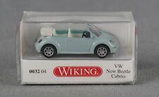 WIKING 003204/ 0032 04 (H0, 1:87) VW The New Beetle Cabrio hellblau NEUWARE!