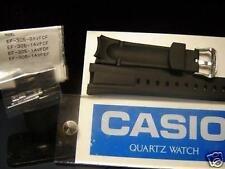 Casio watch band EF-305 Black Resin Strap. Watchband. w/attaching pins