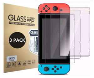 (3 Pack) Nintendo Switch Premium Tempered Ultra Clear Glass Screen Protector
