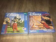 Lot of 2 New!! Buffalo Games Disney Photomosaic Puzzle 1000 W/ Poster Mickey