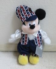 Disney Mickey Mouse Beanie Dressed In Americana Doll Clothes Fourth of July