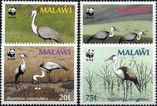 "1987 ""Malawi"" WWF, Birds, Wattled Crane complete set VF/MNH! CAT 21$ LOOK!"