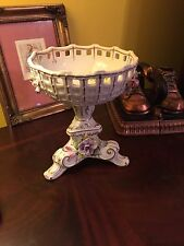 LOVELY DRESDEN COMPOTE, CANDY OR POTPOURRI DISH HAND PAINTED  NUMBERED
