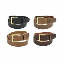 "Genuine Buffalo Leather Belt_1 1/4"" wide_Amish Handmade_SOLID BRASS Buckle_131"
