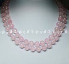"Natural 8mm Pink Chalcedony Round Beads Gemstones Necklaces 36"" JN645"