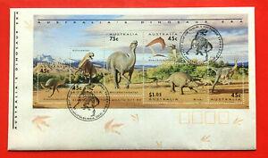 Australian Dinosaur Era Minisheet 1993 FDC First Day Cover