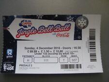 Jingle bell ball  O2 LONDON  04/12/2016 OLD TICKET