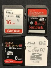 SanDisk 16GB Class 10 SDHC 40MB/s Memory Card - 4 Various Cards Bundle