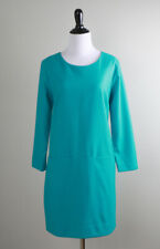 J.CREW $148 Jules Wool Lined Shift Front Pocket Dress in Turquoise Size 6