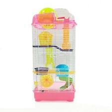 3 Level Clear Plastic Dwarf Hamster, Mice Cage with Ball on Top