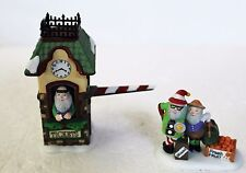 """Department 56, North Pole, """"End of the LIne"""" Set of 2"""