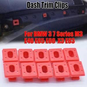 For BMW E46 3 E65 7 Series E83 DASHBOARD DASH TRIM STRIP INSERTS CLIPS GROMMETS