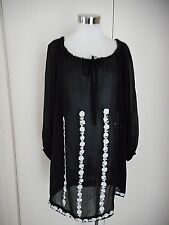 Exclusive Australian Designer  COLLETTE DINNIGAN Size 12 - 14 Black Silk Dress