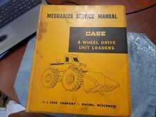 Case Mechanics Service Manual 4 Wheel Drive Unit Loaders 12-1960 Vintage