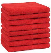 Betz lot de 8 serviettes de toilette Premium 100% coton 50x100 cm couleur rouge