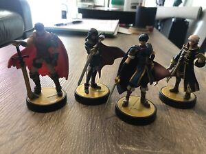 Fire Emblem Amiibo Marth, Lucina, Ike, Robin. Super Smash brothers.