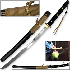 Modern Sporting Sword Tactical Wakizashi Honshou 1045 High Carbon w 550 Paracord