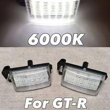 LED LICENSE PLATE LAMP LIGHT ASSEMBLY 6000K NO ERROR FOR 09-17 R35 GTR led