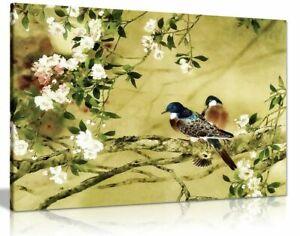Oriental Canvas Art Birds Plum Blossom Canvas Wall Art Picture Print