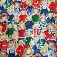 Colorful Kids Novelty Cotton Fabric 1 1/2 Yards Quilting Crafts