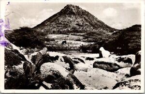 Vintage Postcard -Country Scene with Hooiberg Aruba NA
